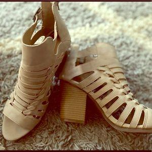 Rampage nude color heels, size 10